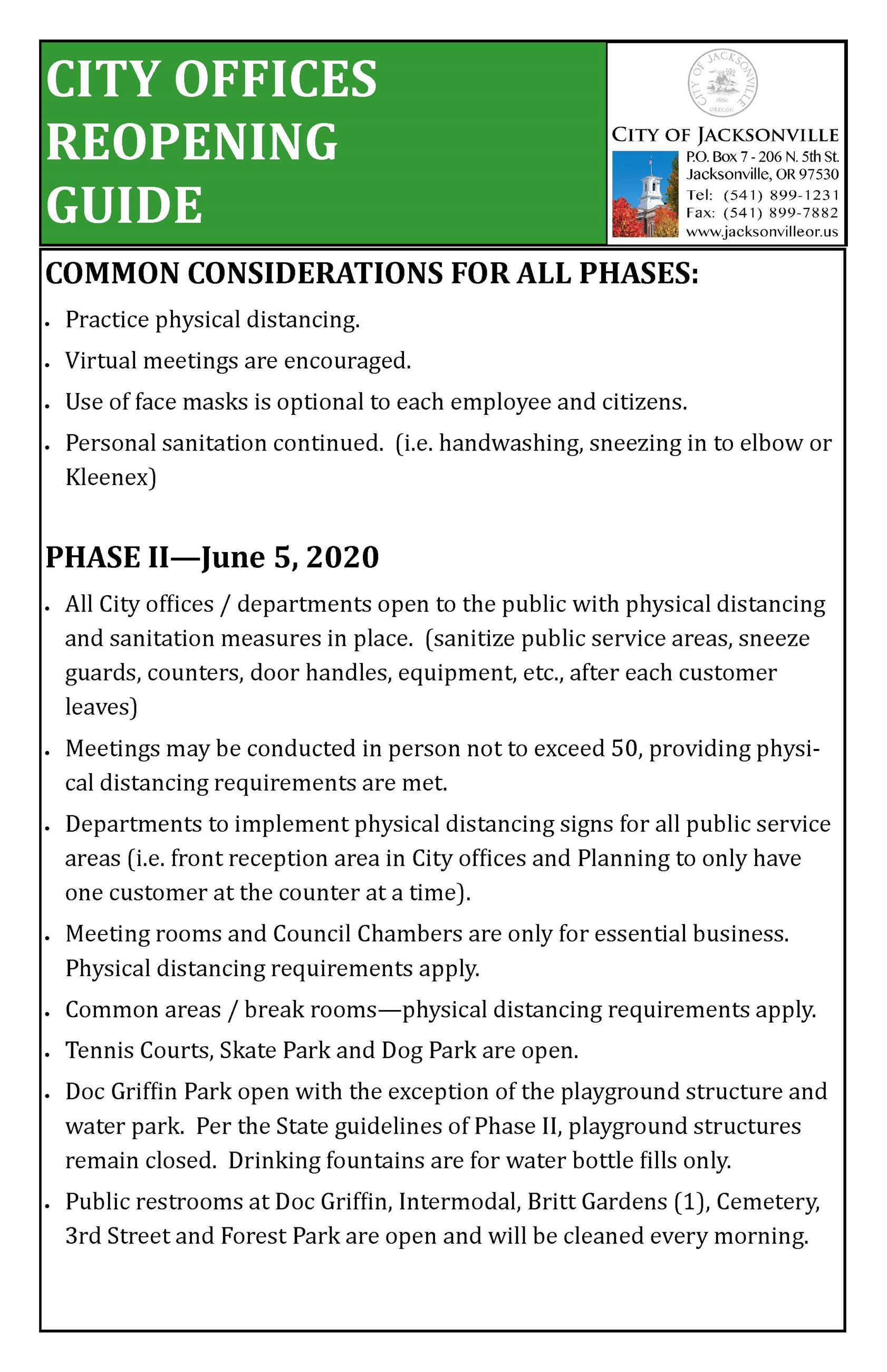 City Offices Reopening Guide  SIGN_Phase 2